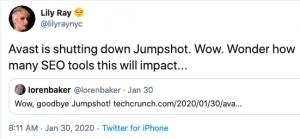 Lily Ray Jumpshot Tweet