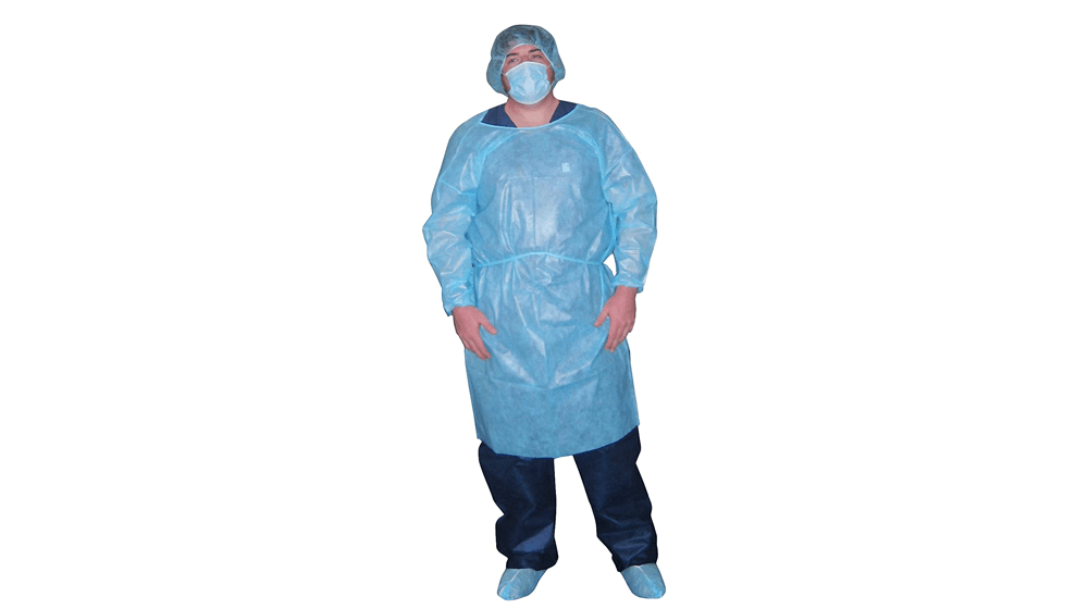 Dukal Isolation Gown, Non-Sterile, Blue