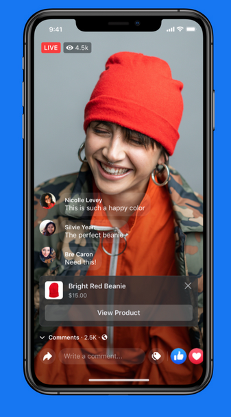 Facebook live shopping feature