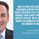 Jonathan Becher of the San Jose Sharks – The number of content creators is closing in on the number of content consumers